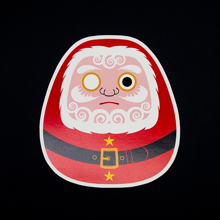Holiday Card / Santa-Daruma
